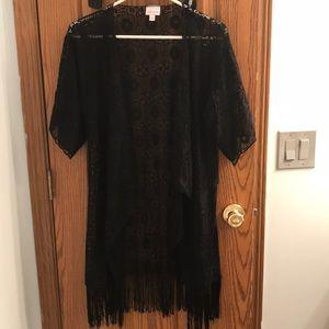 LuLaRoe Monroe black small lace